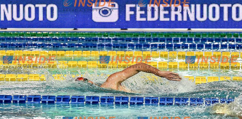 Andrea Manzi Canottieri Napoli<br /> 1500 stile libero uomini<br /> Stadio del Nuoto Riccione<br /> Campionati Italiani Nazionali Assoluti Nuoto Primaverili Fin <br /> Riccione Italy 19-04-2016<br /> Photo Andrea Staccioli/Deepbluemedia/Insidefoto