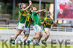 Colman Savage Kilmoyley in action against Garry O'Brien Ballyduff in the County Senior Hurling Final at Austin Stack Park on Sunday.