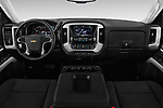 Stock photo of straight dashboard view of 2018 Chevrolet Silverado-1500 LT-Crew 4 Door Pick-up Dashboard