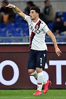 Riccardo Orsolini of Bologna FC celebrates after scoring the goal of 0-1 <br /> Goal celebration <br /> Roma 07/02/2020 Stadio Olimpico <br /> Football Serie A 2019/2020 <br /> AS Roma - Bologna FC <br /> Photo Andrea Staccioli / Insidefoto