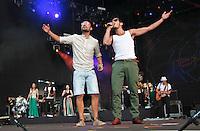 LISBOA, PORTUGAL, 01 DE JUNHO 2012 - ROCK IN RIO LISBOA - Banda Expensive Soul durante Rock In Rio Lisboa no palco Mundo na cidade do Rock em Lisboa capital de Portugal nessa sexta-feira. FOTO: VANESSA CARVALHO - BRAZ PHOTO PRESS.
