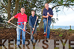 SLAN: Cutting the turf at the Camp Vintage Rally on Sunday were, Joe Nelligan,Brian and Paddy Daly (Tonevane).