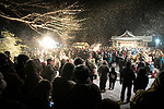 OGA, JAPAN - FEBRUARY 10: People participate during Namahage Sedo Festival at Shinzan Shrine on February 10, 2019 in Oga, Akita prefecture, Japan. Namahage visit each house to admonish sluggards to mend their ways, ward off disasters and offer blessings, looking for evil children, in the area on New Year's Eve. In the festival, which combines the local event of the ceremony of the shrine, visitors can experience these traditions and its folk culture. (Photo by Richard Atrero de Guzman/Aflo)