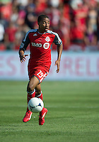 July 28, 2012: Toronto FC midfielder Reggie Lambe #19 in action during a game between Toronto FC and the Houston Dynamo at BMO Field in Toronto, Ontario Canada..The Houston Dynamo won 2-0.