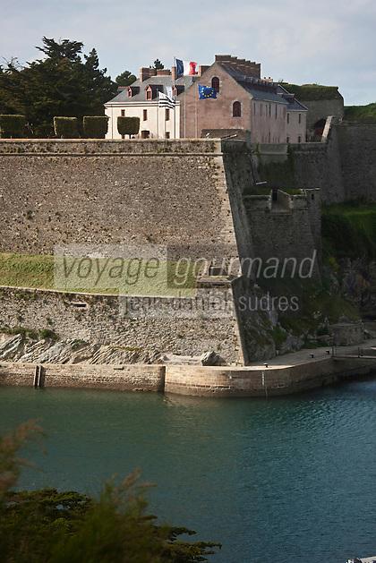 Europe/France/Bretagne/56/Morbihan/ Belle-Ile-en-Mer/ Le Palais: La Citadelle Vauban qui abrite un musée et un Hôtel de Charme