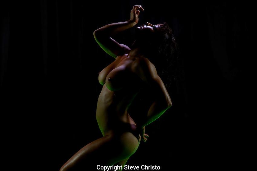 Dancer Arianna Starr nude. Sydney, Australia. Wednesday 25th June 2014. (Photo: Steve Christo)
