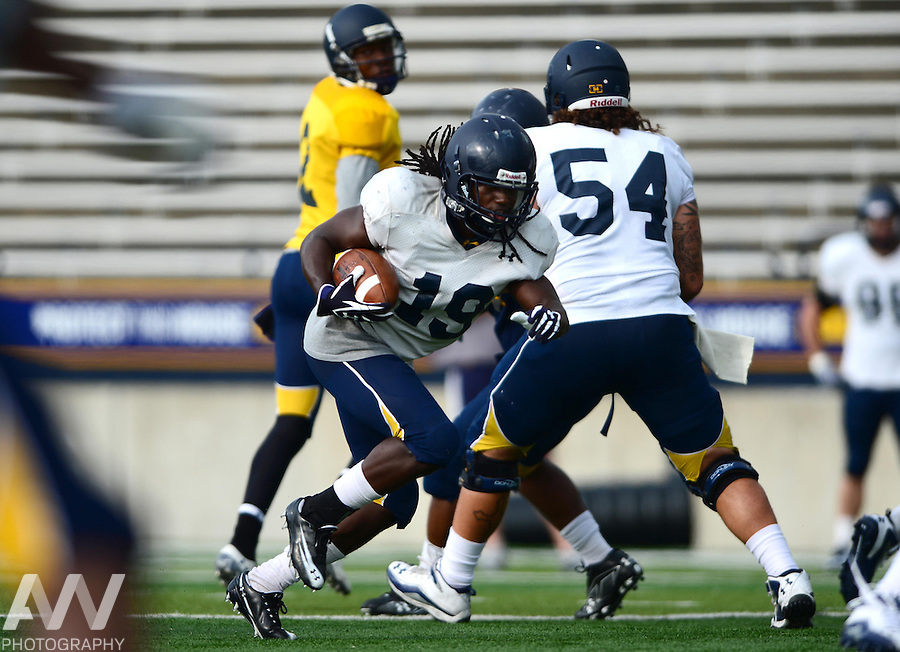 Aug 15, 2012; Toledo, OH, USA; Toledo Rockets wide receiver Cassius McDowell (19) during practice at the Glass Bowl. Mandatory Credit: Andrew Weber-US Presswire