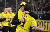 FUSSBALL   DFB POKAL   SAISON 2011/2012  ACHTELFINALE  Fortuna Duesseldorf - Borussia Dortmund              20.12.2011 Schlussjubel: Trainer Juergen Klopp und Sebastian Kehl (Borussia Dortmund)