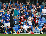 David Brooks of Sheffield Utd replaces Mark Duffy of Sheffield Utd during the championship match at St Andrews Stadium, Birmingham. Picture date 21st April 2018. Picture credit should read: Simon Bellis/Sportimage