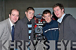 ..FILM: Donnacha Toomey Lecture in Media and Broadcasting explaining how to make a film to student from St Joseph's Ballybunion on Monday at the Open Day in the ITT North Campus, Tralee. L-r: Donnacha Toomey (ITT), Kenneth Mannix, Tom Joy and Paul Hogan (St Josephs Secondry School, Ballybunion)......   Copyright Kerry's Eye 2008