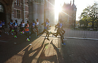 Elite runners pass through in the Rijksmuseum during 42st Amsterdam Marathon on October 15, 2017 in Amsterdam,Netherlands.