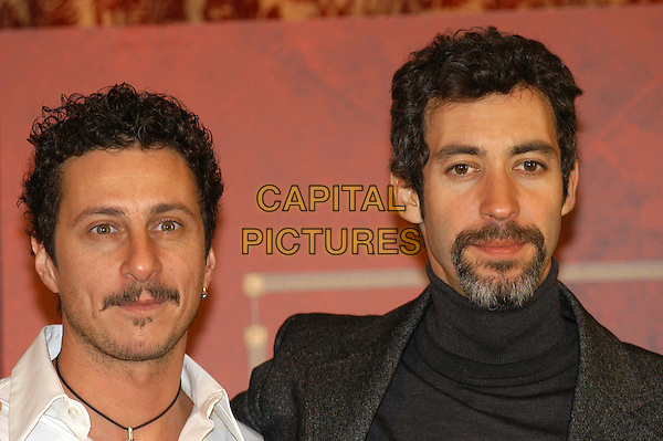 """LUCA BIZZARRI & PAOLO KESSISOGLU .Photocall for """"Asterix aux jeux olympiques"""" (Asterix at the Olympic Games), Rome, Italy..January 28th, 2008.headshot portrait facial hair goatee .CAP/CAV.©Luca Cavallari/Capital Pictures. *** Local Caption *** ."""
