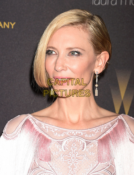 BEVERLY HILLS, CA - JANUARY 10: Actress Cate Blanchett attends The Weinstein Company and Netflix Golden Globe Party, presented with DeLeon Tequila, Laura Mercier, Lindt Chocolate, Marie Claire and Hearts On Fire at The Beverly Hilton Hotel on January 10, 2016 in Beverly Hills, California.<br /> CAP/ROT/TM<br /> &copy;TM/ROT/Capital Pictures