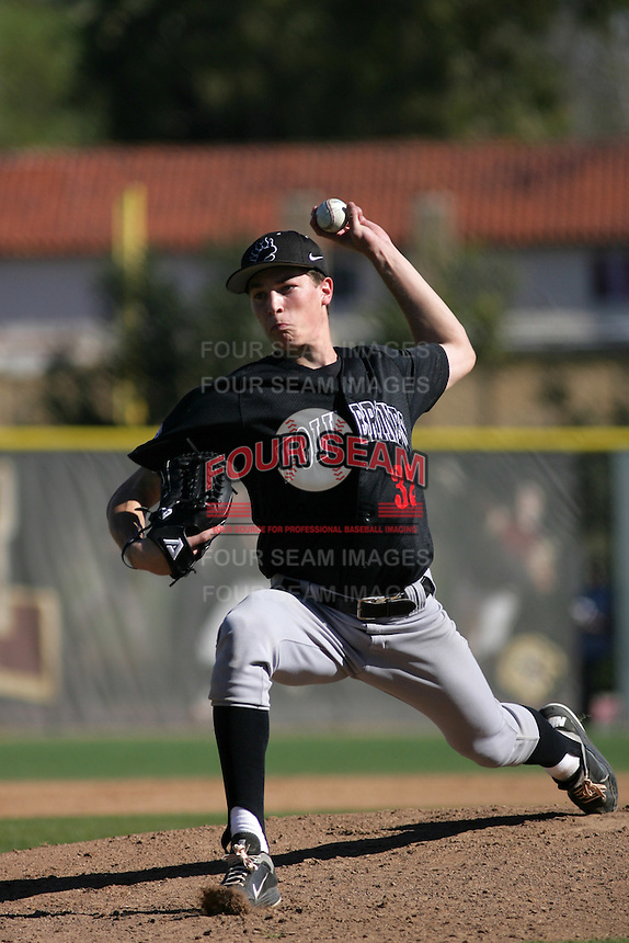 Max Fried of Harvard Westlake High School during a game against JSerra High School at JSerra H.S. on January 28, 2012 in San Juan Capistrano,California.(Larry Goren/Four Seam Images)