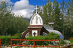 CHURCH AT HAINES JUNCTION, THE YUKON, CANADA.