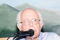 Vermont senator and Democratic presidential candidate Bernie Sanders speaks at a campaign event at the White Mountain Chalet event hall in Berlin, New Hampshire.