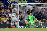Houssem Aouar of Lyon hits a shot just wide of the Chelsea goal during Chelsea vs Lyon, International Champions Cup Football at Stamford Bridge on 7th August 2018