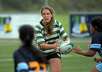 Action from the women's club rugby match between Old Boys University and Kia Toa at Evan's Bay Park in Wellington, New Zealand on Wednesday, 17 March 2018. Photo: Dave Lintott / lintottphoto.co.nz