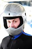 USA, Utah, Park City, portrait of a skeleton racer at Utah Olympic Park