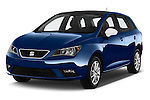 2016 Seat Ibiza ST Style 5 Door Wagon Angular Front stock photos of front three quarter view