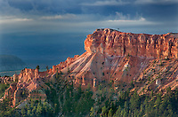 730750173 sunrise lights up the hoodoos and fir trees seen from sunrise point in bryce canyon national park utah united states