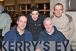 TRALEE BICYCLE CLUB: Having great fun at the Tralee Bicycle Club table quiz at the Earl of Desmond hotel on Thursday l-r: David Wallace, Colin Duffin, Matt Lacey and Pat Dunworth.