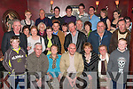 Nifty Fifty: Liam Burke, Carrig Li, Manor, Tralee (seated centre) celebrated his 50th birthday last Saturday night in the Meadowlands Hotel, Oakpark with his wife Eileen, mom Kathleen, his brother Francis and many family and friends.