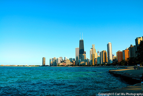 Chicago Skyline Along The Lake Shoe