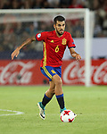 Spain's Dani Ceballos in action during the UEFA Under 21 Final at the Stadion Cracovia in Krakow. Picture date 30th June 2017. Picture credit should read: David Klein/Sportimage