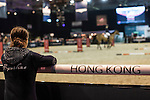 HKJC clinic with Joe Clee during the Longines Hong Kong Masters 2015 at the Asiaworld Expo on 15 February 2015 in Hong Kong, China. Photo by Jerome Favre / Power Sport Images