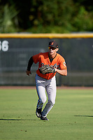 Baltimore Orioles Tristan Graham (43) during practice before an Instructional League game against the New York Yankees on September 23, 2017 at the Yankees Minor League Complex in Tampa, Florida.  (Mike Janes/Four Seam Images)