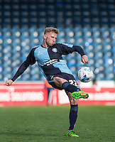 Jason McCarthy of Wycombe Wanderers plays a pass during the Sky Bet League 2 match between Wycombe Wanderers and Barnet at Adams Park, High Wycombe, England on 16 April 2016. Photo by Andy Rowland.