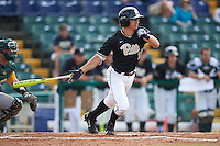Pittsburgh Panthers Jacob Wright (13) at bat during a game against the Siena Saints on February 24, 2017 at Historic Dodgertown in Vero Beach, Florida.  Pittsburgh defeated Siena 8-2.  (Mike Janes/Four Seam Images)