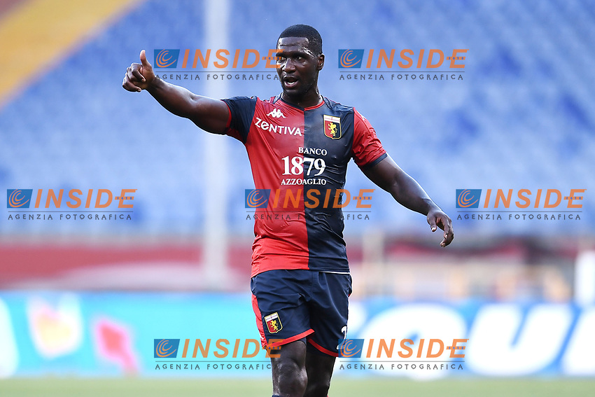 Cristian Zapata of Genoa reacts during the Serie A football match between Genoa CFC and SSC Napoli stadio Marassi in Genova ( Italy ), July 08th, 2020. Play resumes behind closed doors following the outbreak of the coronavirus disease. <br /> Photo Matteo Gribaudi / Image / Insidefoto
