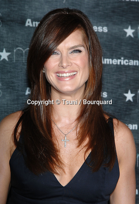 Brooke Shields  at the MACY'S Passport Gala at the Santa Monica Airport in Los Angeles.<br /> <br /> headshot<br /> eye contact