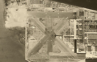 aerial photograph Naval Air Station Alameda, California