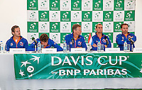 Moscow, Russia, 14 th July, 2016, Tennis,  Davis Cup Russia-Netherlands, The draw, press-conferance with the Dutch team<br /> Photo: Henk Koster/tennisimages.com