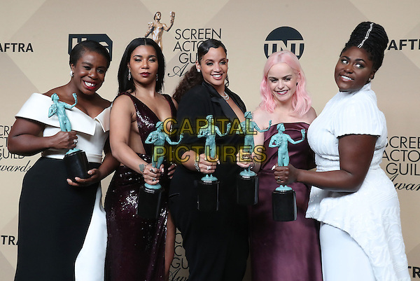 29 January 2017 - Los Angeles, California -  Uzo Aduba, Jessica Pimentel, Dascha Polanco, Taryn Manning, Danielle Brooks. 23rd Annual Screen Actors Guild Awards held at The Shrine Expo Hall. <br /> CAP/ADM/FS<br /> &copy;FS/ADM/Capital Pictures