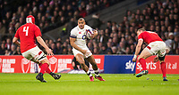 Englands' Jonathan Joseph in action during todays match<br /> <br /> Photographer Bob Bradford/CameraSport<br /> <br /> NatWest Six Nations Championship - England v Wales - Saturday 10th February 2018 - Twickenham Stadium - London<br /> <br /> World Copyright &copy; 2018 CameraSport. All rights reserved. 43 Linden Ave. Countesthorpe. Leicester. England. LE8 5PG - Tel: +44 (0) 116 277 4147 - admin@camerasport.com - www.camerasport.com