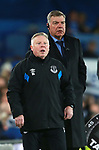 Sammy Lee and Sam Allardyce manager of Everton during the premier league match at the Goodison Park Stadium, Liverpool. Picture date 2nd December 2017. Picture credit should read: Simon Bellis/Sportimage