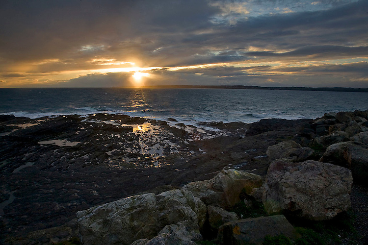 Sunset over the Celtic Sea near Hook Head, Ireland