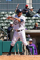 Cory Olson of the University of California at Irvine at the plate in a game against James Madison University at the Baseball at the Beach Tournament held at BB&T Coastal Field in Myrtle Beach, SC on February 28, 2010.