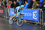 Dario Cataldo (ITA) Astana in action during Stage 1, a 14km individual time trial around Dusseldorf, of the 104th edition of the Tour de France 2017, Dusseldorf, Germany. 1st July 2017.<br /> Picture: Eoin Clarke | Cyclefile<br /> <br /> <br /> All photos usage must carry mandatory copyright credit (&copy; Cyclefile | Eoin Clarke)