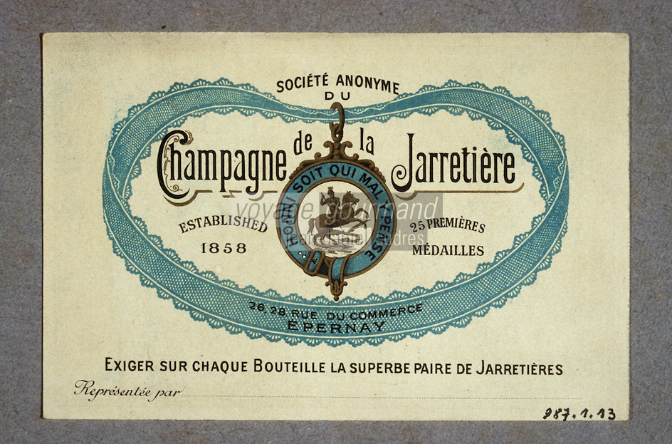 Europe/France/Champagne-Ardenne/51/Marne/Epernay : Musée municipal - Ancienne étiquette de champagne