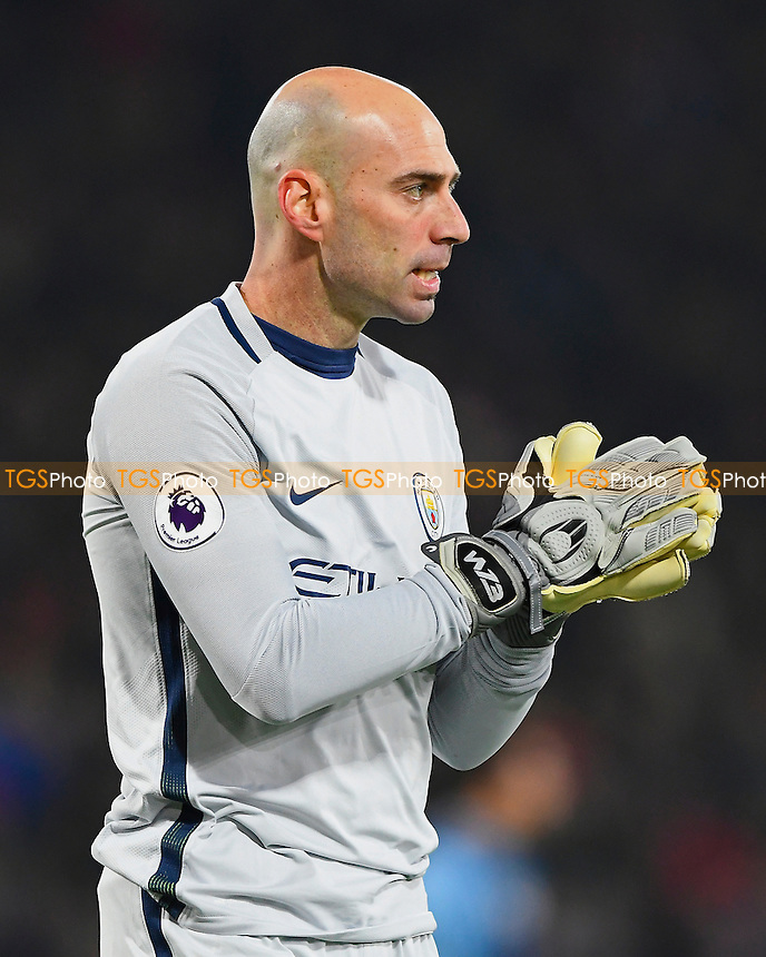 Wilfredo Caballero of Manchester City during AFC Bournemouth vs Manchester City, Premier League Football at the Vitality Stadium on 13th February 2017