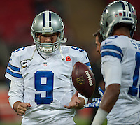 09.11.2014.  London, England.  NFL International Series. Jacksonville Jaguars versus Dallas Cowboys.  Dallas Cowboys' Quarterback Tony Romo (#9) starts for the Cowboys'.