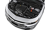 Car stock 2019 Chevrolet Malibu LT 4 Door Sedan engine high angle detail view