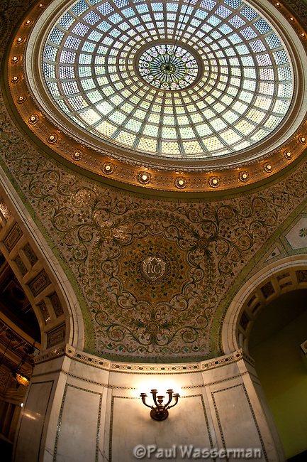 Vertical view inside Chicago's Cultural Center