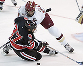 Rob Rassey, Brian Boyle - The Boston College Eagles defeated Northeastern University Huskies 5-3 on Saturday, November 19, 2005, at Kelley Rink in Conte Forum at Chestnut Hill, MA.