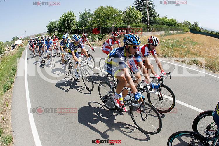 Alberto Contador and Angel Vicioso during the stage of La Vuelta 2012 between Logroño and Logroño.August 22,2012. (ALTERPHOTOS/Paola Otero) /NortePhoto.com<br /> <br /> **SOLO*VENTA*EN*MEXICO**<br /> **CREDITO*OBLIGATORIO**<br /> *No*Venta*A*Terceros*<br /> *No*Sale*So*third*<br /> *** No Se Permite Hacer Archivo**<br /> *No*Sale*So*third*